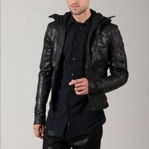 Odyn Vovk Leather Ninja Hoodie Jacket (goat)